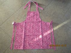 Medium Magenta Pink Bandana Cotton (solid white backing-no pockets) - Adult Sized Apron by ShawnasSpecialties on Etsy