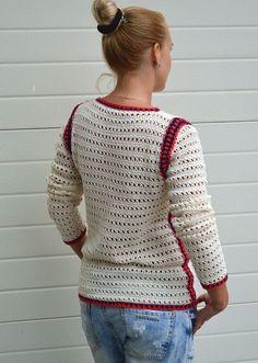 Cotton sweater crochet jumper knitted pullover summer sweater ...