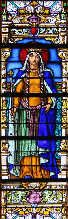 Saint Clotilde (475-545). My 45th great-grandmother. Direct bloodline: maternal.