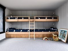 Youngsters Bedroom Furnishings – Bunk Beds for Kids Modern Bunk Beds, Cool Bunk Beds, Bunk Beds With Stairs, Bunk Beds For Girls Room, Bunk Rooms, Kid Beds, Kids Beds For Boys, Interior Architecture, Interior Design