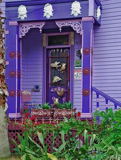 punched up purple   If I had a Victorian house, this would be the colors.