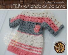 Patrón túnica bebé niño Amelia Crochet túnica patrón por palomapch
