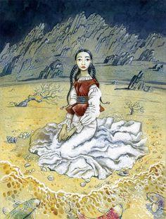 Illustration by kazakh illustrator Assol Sas Mongolia, Art N Craft, My Ride, Illustrators, Animation, Cartoon, History, Portrait, Drawings