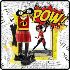 The Incredibles. For a winter race, black running tights, a long-sleeved red shirt with the logo and black gloves could work.