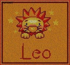 Leo minor EN PUNTO DE CRUZ