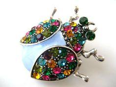 Colorful Multi Crystal Rhinestone Enamel Lady Bug Fashion Jewelry Pin Brooch Alilang. $12.99