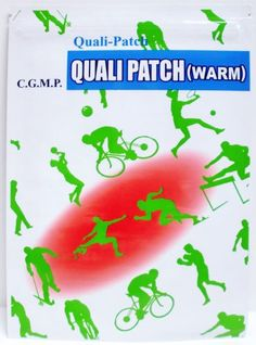 Quali Patch (Warm) - 10 Pack (2 Patches Per Pack; 20 Patches Total). 2 Patches Per Pack. Directions: . Clean and dry the affected areas before application. FOR EXTERNAL USE ONLY Avoid applying around eyes, mucous membranes, or open wounds. Cautions:. Warming patch, effective for chronic pain or stiffness. Discontinue if skin irritation Occurs. Patch size: 10 cm x 14 cm. Remove the protective film while applying the areas 1 sheer per day *For serious situation, reapply every few...