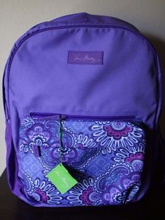 7a6b5299c083 Vera Bradley Purple Lilac Tapestry Large Colorblock Backpack - Brand NEW   VeraBradley  Backpack Backpack
