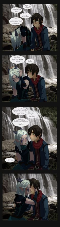Raylum Requests 02 by Dancing-Fruit on DeviantArt Rayla Dragon Prince, Prince Dragon, Dragon Princess, Dragon Prince Season 3, Rayla X Callum, Cool Pictures, Cool Photos, Anime Reccomendations, Avatar