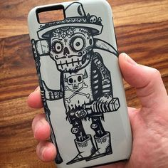 "Awesome phone cases designed by independent artists. . . ""Death Awaits"" by the American artist Craig Watkins aka Wotto. . . . ( by @wotto76 ) art #illustration #drawing #draw #artist #sketch #sketchbook #gallery #creative #instaartist #graphic #artoftheday  #style #PhoneCases  #phonecase #samsung #galaxy #s8 #iPhone #ArtsCase #wynwood"