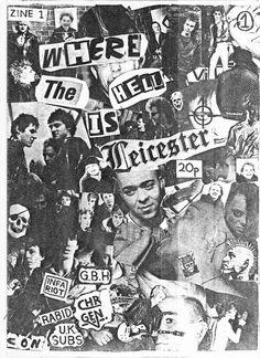 Punk fanzine art