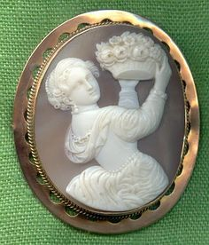 Cameo: Allegory of Spring  Italian, prob. mid-1860s  Sardonyx shell