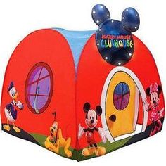 mickey mouse tent | PlayHut Mickey Mouse Playhouse Hideway Tent - Reviews u0026 Prices @ Yahoo  sc 1 st  Pinterest & Make his bedroom magical with this Mickey Mouse Plastic Toddler ...