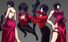 Spread The Overflowing Love Female Character Design, Character Concept, Character Art, Anime Girl Hot, Anime Art Girl, Video Game Characters, Female Characters, Resident Evil Girl, Ada Wong