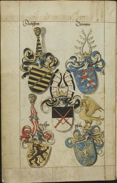 Saxony lineage - coats of arms