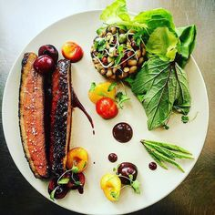 Sonoma saveurs duck breast / shaoxing cherries / black eyed pea salad with buttercrunch lettuce / smoked tea vinny by @jameyy22 Tag your best plating pictures with #armyofchefs to get featured! ------------------------ #foodart #truecooks #foodphoto #chefsroll #chefsofinstagram #foodphotography #hipsterfoodofficial #foodphotographer #gastroart #wildchefs #delicious #instafood #instagourmet #gourmet #theartofplating #gastronomy #foodporn #foodism #foodgasm #plating #f52grams #picsoftheday…