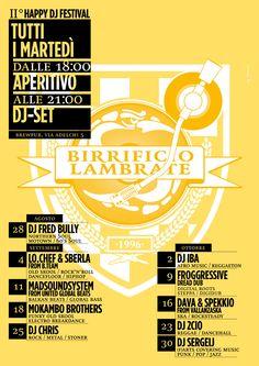 II DJ FESTIVAL al Birrificio Lambrate di Via Adelchi 5 !!
