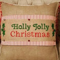 Your place to buy and sell all things handmade : Burlap Christmas, Christmas Sewing, Christmas Pillow, Christmas Fun, Xmas, Burlap Pillows, Decorative Pillows, Throw Pillows, Sewing Crafts