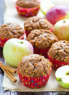 Whole Wheat Apple Spice Muffins