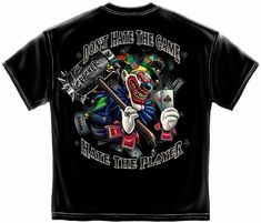 f19333869 Ace Cracker World Series of Poker Don't Hate The Game Hate Player T Shirt  Tee