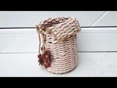 Tutorial , saculet din ziare pentru flori - Tutorial, newspaper bag for flowers Newspaper Bags, Basket, Make It Yourself, Youtube, Flowers, Paper Basket, Hampers, Paper Envelopes, Tejidos