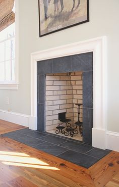 slate tile fireplace surround. soapstone fireplace surround Bedroom Traditional with reclaimed heart pine  floors Black Slate Fireplace Surround Pinterest