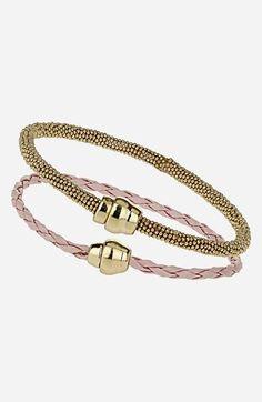 Topshop 'Plait' Bracelets (Set of 2) available at #Nordstrom