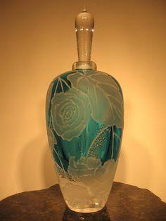 Maco art glass perfume bottle