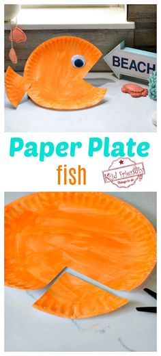 This Paper Plate Craft is perfect for little kids in preschool or big kids. This paper plate fish is an easy summer craft for all. for toddlers easy Easy Paper Plate Fish Craft for Kids Paper Plate Crafts For Kids, Summer Crafts For Kids, Crafts For Kids To Make, Craft Activities For Kids, Craft Ideas, Summer Crafts For Preschoolers, Summer Fun, Arts And Crafts For Kids Toddlers, Spring Crafts