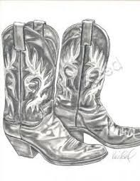 charcoal drawing of cowboy boots - Google Search