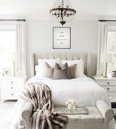White Bedroom Furniture Master Inspiration 64 Ideas For 2019 Cozy Bedroom, Bedroom Sets, Bedroom Colors, Home Decor Bedroom, Modern Bedroom, Bedroom Wall, Bedroom Furniture, Bed Room, Contemporary Bedroom