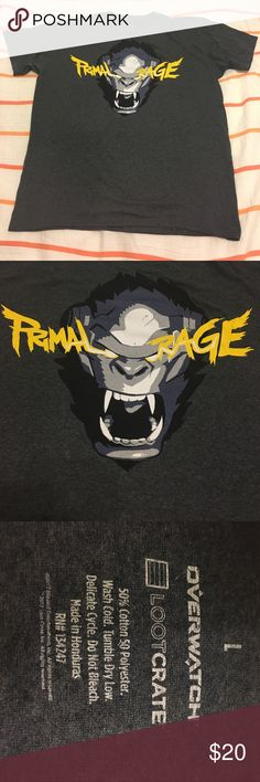 Overwatch Primal Rage Tee This is a new without tags Overwatch Primal Rage tee. Men's size L. *Lootcrate Exclusive* Shirts Tees - Short Sleeve