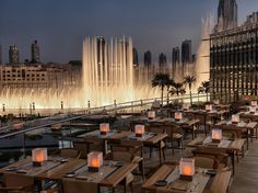 The Armani Hotel Dubai unveils al fresco terraces for a stylish dining experience with stunning views of The Dubai Fountain. For more, visit ArmaniHotels.com