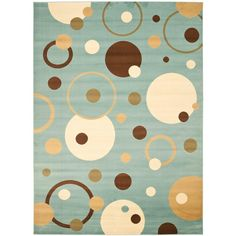 Safavieh Porcello Blue/Multi 6 ft. 7 in. x 9 ft. 6 in. Area Rug-PRL6851-6591-6 - The Home Depot