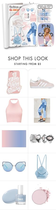 """""""Appliqued jeans"""" by olivia204 ❤ liked on Polyvore featuring ban.do, adidas, Nasty Gal, Matthew Williamson and MANU Atelier"""