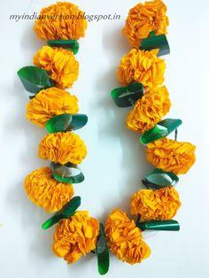 DIWALI SERIES (Part 1) : DIY : Marigold Flower Garland