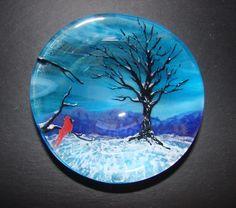 Virginia Bowl - by Silver Art Glass Jewelry. Delphi Artist Gallery