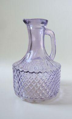 Pretty Vintage Lilac  Diamond Pattern Pressed by DejaVuObjects