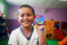 For eight-year-old Oscar, every Wednesday is a special day: it is the day he gets to visit the toy library at his Compassion centre in El Salvadaor. Many children living in poverty, like Oscar, don't have the luxury of having toys in their homes where the focus is more on basic survival needs, such as buying food. But in the library, Oscar and his friends get the chance to simply be kids as they play and learn together.