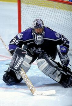 My 3rd favorite Kings goaltender in the last 25 years, #35 Stephane Fiset.