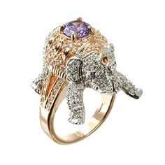 Elephant Ring, $168, now featured on Fab by CZ by Kenneth Jay Lane !!