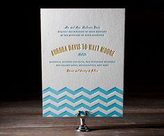 looks a little like waves but still deco  Eco-Friendly Letterpress Wedding Invitations - Bella Figura | Oh So Beautiful Paper