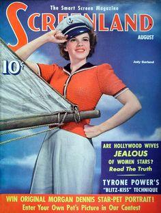 Judy Garland on Screenland Magazine Cover August 1941 Star Magazine, Movie Magazine, Vintage Movie Stars, Vintage Movies, Vintage Glam, Nautical Outfits, Nautical Fashion, Old Magazines, Vintage Magazines
