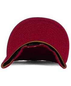 5d95b0e6041 New Era New York Yankees The Logo of Leather 59FIFTY Fitted Cap - Red 7