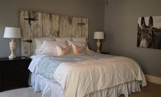 Vintage Headboards | Distressed Barn Wood Style Headboard | Online Store Powered by Storenvy
