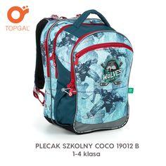 b96282382c050 Plecak Topgal z motywem hokeja dla uczniów od 1 do 4 klasy. Topgal Plecaki
