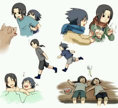 Brother Moments: Itachi and Sasuke. I truly believe that this is how their relationship was. Itachi is the best elder brother. Anime Naruto, Naruto And Sasuke, Naruto Team 7, Naruto E Boruto, Naruto Gaiden, Naruto Cute, Sakura And Sasuke, Naruto Shippuden, Naruto Family