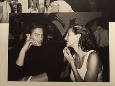Carolyn with Michael Bergin at Kelly Klein's birthday party at Indochine, 1994 (from the book Photographs by Kelly Klein)