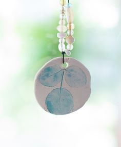 Make clay leaf print ornaments and pendants. These are beautiful!