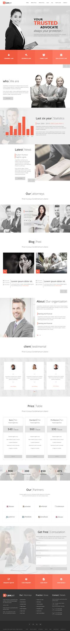 Lawyer is Premium full Responsive #HTML5 #Lawyers template. Bootstrap 3 Framework. Retina Ready. #VideoBackground. Google Fonts. Test free demo at: http://www.responsivemiracle.com/cms/lawyer-premium-responsive-html5-template/